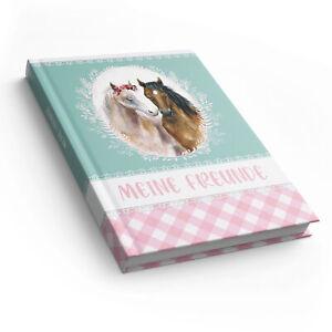 itenga Freundebuch Pferde DIN A5 88 Seiten zum Ausfüllen für Schule Mädchen