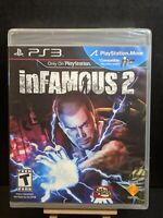 InFamous 2 (PlayStation 3, PS3 2011) *Brand New*Factory Sealed*Unopened*