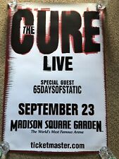 The Cure Original Concert Poster 2x3' Madison Square Garden Nyc 2007 Rare
