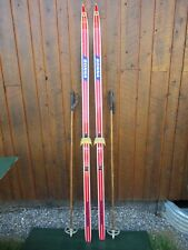 """Ready to Use Cross Country 79"""" Long BONNA 205 cm Skis +  Poles"""