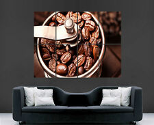 COFFEE BEANS GRINDER POSTER DRINK ART LARGE WALL PICTURE  PRINT