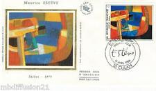 1986**ENVELOPPE SOIE**FDC 1°JOUR!!**PEINTURE DE MAURICE ESTEVE**TIMBRE Y/T 2413