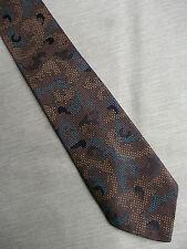 Vintage Skinny Slim Dark Bronze mod cravate cravate 1960 S 1970 S + Cameo +