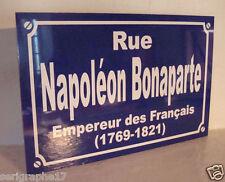 PLAQUE de RUE  NAPOLEON BONAPARTE emprereur français