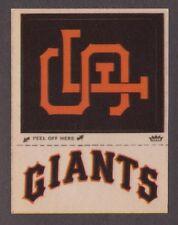 1968-72 Fleer Cloth Stickers Patches SAN FRANCISCO GIANTS Baseball LOGO insert 1