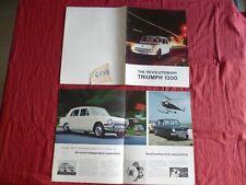 N°4563  / TRIUMPH  1300   catalogue english text february 1966