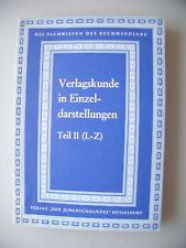 2 Teile Verlagskunde in Einzeldarstellungen 1967