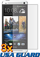 3x Clear LCD Screen Protector Guard Shield Cover Skin Film for HTC One Max T6