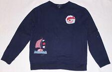 Ralph Lauren Sweatshirt dunkelblau Gr. 176/18-20J/XL Jahre Piraten Applikation