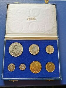 1964 SOUTH AFRICA Proof Set of 7 Coins in Original Box