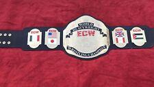 ECW WORLD HEAVYWEIGHT CHAMPIONSHIP BELT IN 4MM BRASS PLATES FREE SHIPPING D H L