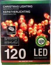 EF Lichterkette 120 LED RED Beleuchtung mit 8 FUNKTION Lichtschlauch