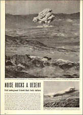 1952 vintage article First Underground Atom Blast rocks Nevada Desert 072617