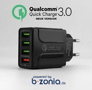 ⭐ Qualcomm 3.0 Quick Charge 4-Port USB Netzteil 24W 3.1 A Mehrfachstecker M386⭐