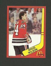 Doug Wilson Chicago Blackhawks #36 1982-83 McDonald's Hockey Sticker NM/M