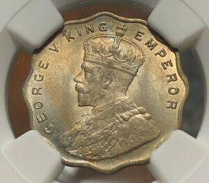 India British 1912 (B) Anna - NGC MS63
