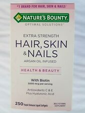 Nature's Bounty Extra Strength Hair, Skin & Nails Argan Oil Infused with Biotin