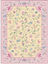 """Dollhouse Miniature Colorful Floral Large Accent Rug 8 1/2"""" x 6 1/4"""" RG132"""