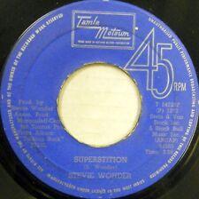 STEVIE WONDER 45 Superstition TAMLA MOTOWN Soul WEST INDIES PRESS #C1109