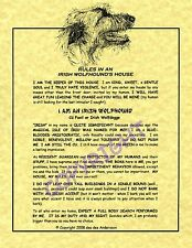 Rules In An Irish Wolfhound's House