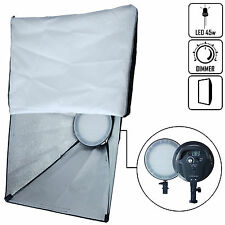 DynaSun K45 LED 5500K Panel Light Stand Mounting with Softbox 50x70cm for Studio