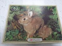 Vintage JR Jigsaw Puzzle Rabbits 300 Pieces Bunny Bunnies Easter