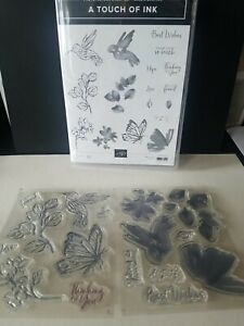Stampin Up A Touch Of Ink 17 Pc Photopolymer Stamp Set
