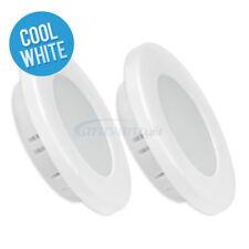 2x12v LED Down Light Ceiling Lamp Cool White Caravan Interior Marine White Shell