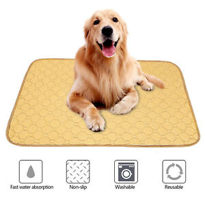 Large Washable Puppy Pee Pads Fast Absorbing Reusable Dog Whelping Pad