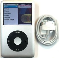 Apple iPod Classic 6th Generation Black Silver Custom 80GB New Battery Warranty