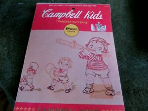 vintage Campbell Kids embroidery transfers