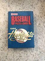 "1986 Donruss Baseball ""Highlights"" Factory Sealed  Box Set 🔥 Bo Jackson Rookie!"