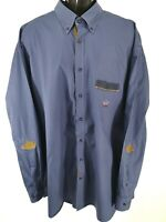 PAUL & SHARK YACHTING Men's Shirt Size 3X Tall Button Front Made In ITALY EUC