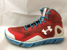 Under Armour Spine Mens 9.5 M Crimson Teal Blue 1238198-601 Hi Top Shoes Sneaker