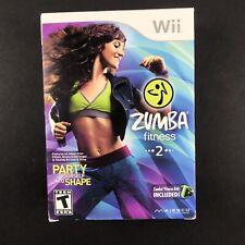 Zumba Fitness 2 (Nintendo Wii, 2011) BOX WITH ZUMBA FITNESS BELT SEALED