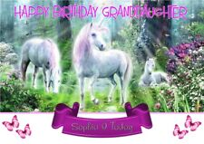 Unicorn personalised birthday card ANY NAME/AGE/RELATION.