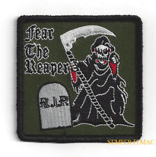 Fear The Grim Reaper Rip Hat Patch Skull Death Heaven Hell Pin Up Gift Dead Man