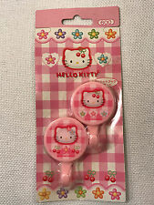 Rare Hello Kitty Pink Plaid Cherries Refrigerator Magnet Hooks, 1998 NEW IN PACK