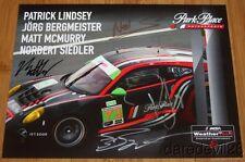2016 Park Place Motorsports Porsche 911 GT3R GTD signed Rolex IMSA WTSC postcard