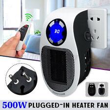 Mini Heater Mobiler Heizlüfter Heizung Steckdose Elektro Heizgerät Timer 500W