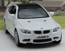 PERSONALISED PLATE White BMW M3 Coupe Boys Toy Car Model Dad Birthday Present