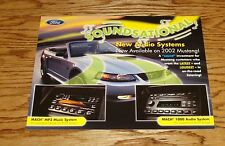 Original 2002 Ford Mustang Mach Audio Sales Sheet Brochure 02