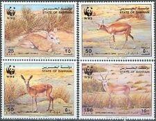 Bahrain 1993 ** Mi.511/14 Gazelle WWF Tiere Animals