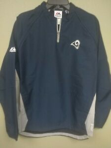 Majestic BOYS Los Angeles Rams 1/4 Zip Convertible Cool Base Jacket New XL