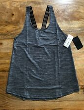 COTTON ON BODY CRISS CROSS TANK TOP, SIZE S, CHAR/BLACK - BRAND NEW IN PLASTIC