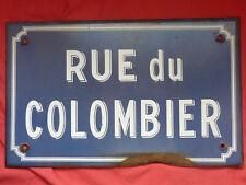 ancienne plaque de rue émaillée , RUE DU COLOMBIER