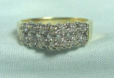 14K Gold Ring w 14 Diamonds .15 ct total  3.1 grams  size 7 3/4