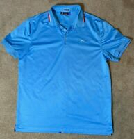 J. Lindeberg Mens Polo Golf Shirt - Regular Fit Light Blue XL