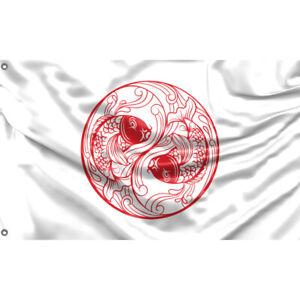 Red Fish Flagge/Fahne Unikales Design 90x150cm