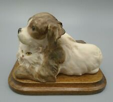 Giuseppe Armani Art Dog & Cat Sculpture Made in Italy